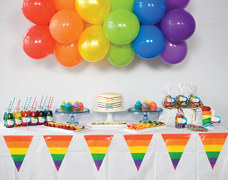 Rainbow Birthday Theme Childrens Party